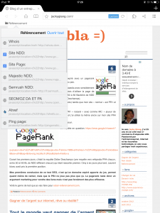 bookmarks seo pour ipad et iphone