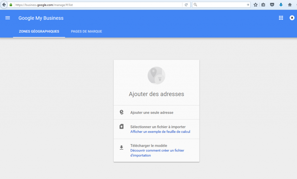 etape 1 reclamer la propriete page google local